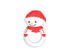 Baby Christmas Gift Snowman Baby's first Christmas Baby Teether Sensory Toy