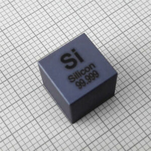 Silicon Metal Density Cube 10mm 99.999% 2.3g for Element Collection