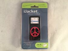 iJacket Black with Red Peace Sign iPod Cover, Fits iPod Nano