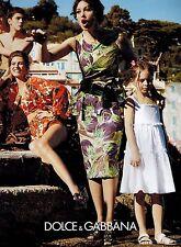 2012  MONICA BELLUCCI  for  DOLCE & GABBANA Magazine  Print  Ad ( 2-pg )