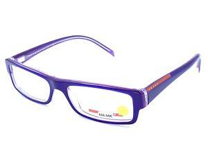 Prada VPS 01A NEW GVZ-101 Purple Rectangular Eyeglasses Frames 51-15 140 Italy