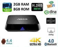 M8S Smart Android IPTV OTT TV boxes Quad Core 2GB Ram 8GB HD Media Player