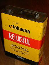 ancien vintage BIDON tin can tank JOHNSON saint denis holland RELUISEUL glo coat