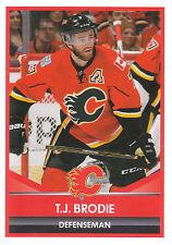 16/17 PANINI NHL STICKER #263 TJ BRODIE FLAMES *24895