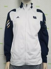 Adidas Womens Large Polyester Climalite White Navy Blue Pullover Jacket