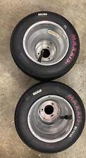 Go Kart Racing Aluminum Wheels And Pink Maxxis Tires