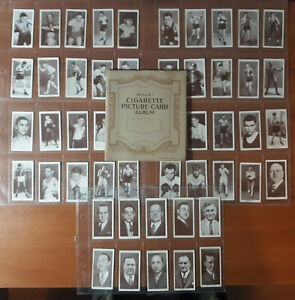 1938 churchman boxing cards set in 1930's album!! Jack Johnson, Joe Louis, etc!!