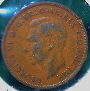 UK (Great Britain), 1938 Penny - Bronze - KM # 845