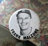VINTAGE PINBACK BUTTON FRANK MALZONE BOSTON RED SOX BASEBALL TEAM GAME 1950-60s