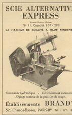 PARIS PUBLICITE ETS BRANDT SCIE ALTERNATIVE EXPRESS 1953