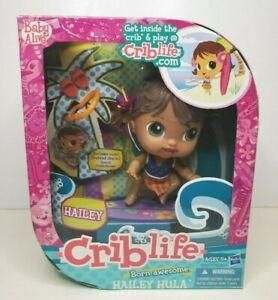 Hasbro Crib Life Born Awesome Hailey Hula Baby Doll Ages 5+ 2010 Brand New