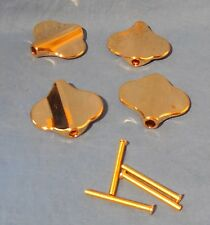 NEW GUITAR TUNING MACHINE HEAD BUTTONS FOR 4 STRING BASS GOLD CLOVER LEAF