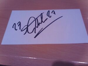 signed card of ex fulham and cameroon footballer pierre wome