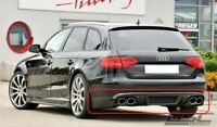 Audi A4/S4 B8 rieger look rear bumper spoiler / diffuser / lip (not fit to sline