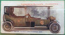 Cigarette Card L&B MOTORS 1908 No25 28 HP (6 Cylinder) Lanchester Car