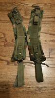 US Army/USMC ALICE LC-2 Woodland Camo Combat Pack Shoulder Straps Set Complete