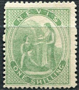Nevis 1871 issue, SG 20,1s Pale Green, unused, no gum, CV £90