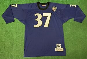 RARE Mitchell & Ness NFL Baltimore Ravens Deion Sanders #37 L/S Jersey Size 56