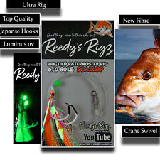 4 Snapper Fishing Rig 5/0 Rigs Paternoster Tied Bottom Circle Hook Mixed Colour