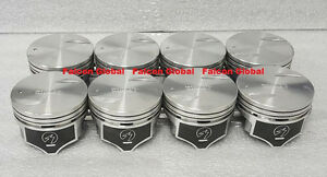 "Chevy 7.4/454 Speed Pro Hypereutectic Flat Top Pistons Set/8 +.060"" w/rods rings"