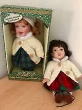 Two Irish Porcelain collectible dolls in traditonal costume.  as new