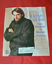 JEREMY IRONS AUTOGRAPHED SIGNED NEW YORK BROADWAY MAGAZINE PLAYBILL COVER RARE