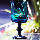 """PROVINCIAL/BASUN BLUE by Kosta Boda Goblet 6.75"""" tall made Sweden NEW NEVER USED"""