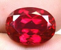 AAA Burma's 13.90 Ct Natural Red Ruby Oval Shape Loose Gemstone Certified F0929
