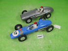 vintage lucky & other hong kong friction racing cars x2 plastic models 3007