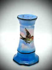 Antique Hatpin Holder Swallow Soars in Pink Clouds Blue Skies. Sweet Collectible