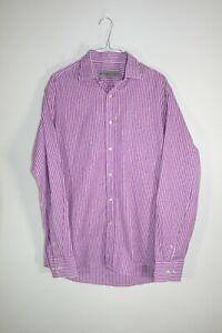 Etro Purple/Pink Striped Paisley Shirt Size 41