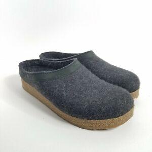HAFLINGER Reine Schurwolle Pure Wool Size 39 EU Women's Black and Gray Clogs