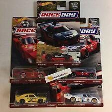 Race Day Complete 5 Car Set *  Car Culture 2017 Hot Wheels Case J