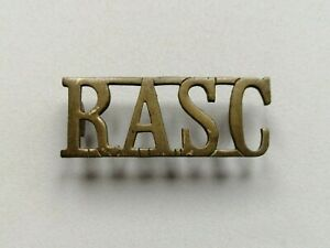 Royal Army Service Corps (RASC) Brass Shoulder Title Badge