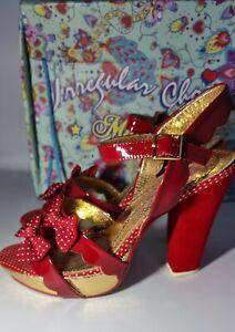 Irregular Choice 🎀 Ariel's Treasure Sandals Shoes Heels 41  7.5 Red Platform