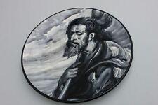 Signierter Keramik Wandteller mit Jesus Christus , Spanien