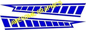 KENNY ROBERTS STYLE RACING CHECKS, fit YAMAHA YZF R125, TZ BRILL BLUE, small set