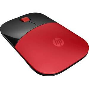New HP Z3700 Wireless Mouse Red Black w/dongle V0L82AA#ABL