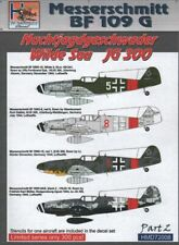 H-Model Decals 1/72 JG300 Wilde Sau, Pt.2 - Messerschmitt Bf 109Gs # 72008