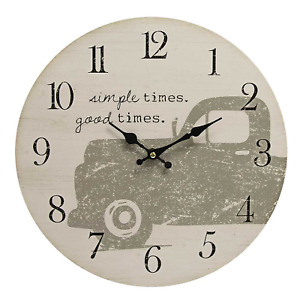 Farmhouse Truck new Simple Times wood wall Clock