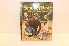 RARE UPSIDE DOWN BACK COVER Smokey Bear and Campers A Little Golden Book 1971