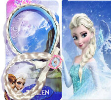 New Disney Frozen Girls Elsa Headband Braids Wig Tiara Crown Wand Hair Band