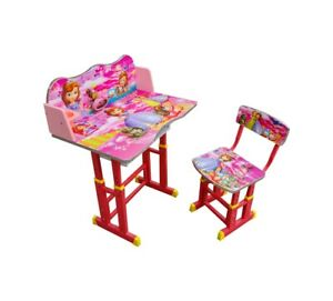 Kids Table & Chair Set Art Disney Princess Children Activity TOY Study Storage