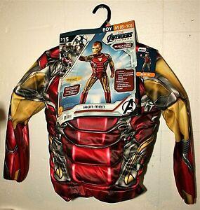 Marvel Comics Iron Man Avengers Endgame Muscle Chest Kids Halloween Costume New
