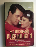 "First Edition ~ ""My Husband Rock Hudson"" by Phyllis Gates  Hardcover Dust Jacket"
