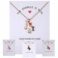 Women Fashion Unicorn Necklace Pendant Girl Sweater Chain Charm Jewelry Gift
