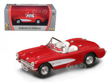 1957 CHEVROLET CORVETTE RED 1/43 DIECAST CAR MODEL BY ROAD SIGNATURE 94209