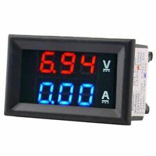 Digital Voltage Meter Dc100V 10A Voltmeter Ammeter Blue+Red Led Amp Dual N8R8
