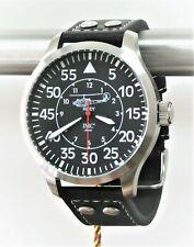 IMC Fliegeruhr Huey silber Herren Armbanduhr Hubschrauber Männer Uhr Leder OVP