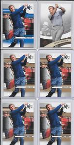 LOT OF 6 Arnold Palmer Golf Cards-1 Insert